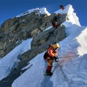 Climbers on MT Everest