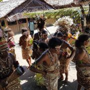buna village dancers kokoda