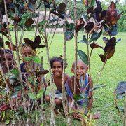 kids at kovelo village kokoda