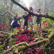 village kids on Kokoda track