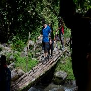 Crossing lala creek Kokoda